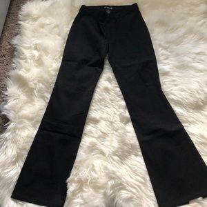 Black Bebe Dress Pants with bottom back slit